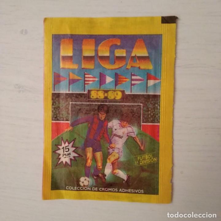 EDICIONES ESTE 1988 / 1989: SOBRE NUEVO, SIN ABRIR LIGA. TRASERA ROJA (DIFÍCIL). (Coleccionismo Deportivo - Álbumes y Cromos de Deportes - Cromos de Fútbol)