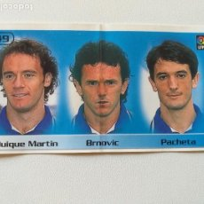 Cromos de Fútbol: BOLLYCAO - LIGA 98/99 - 1998 1999- Q. MARTIN / BRNOVIC / PACHETA - R.C.D. ESPANYOL (Nº 49)-SIN PEGAR. Lote 210408188