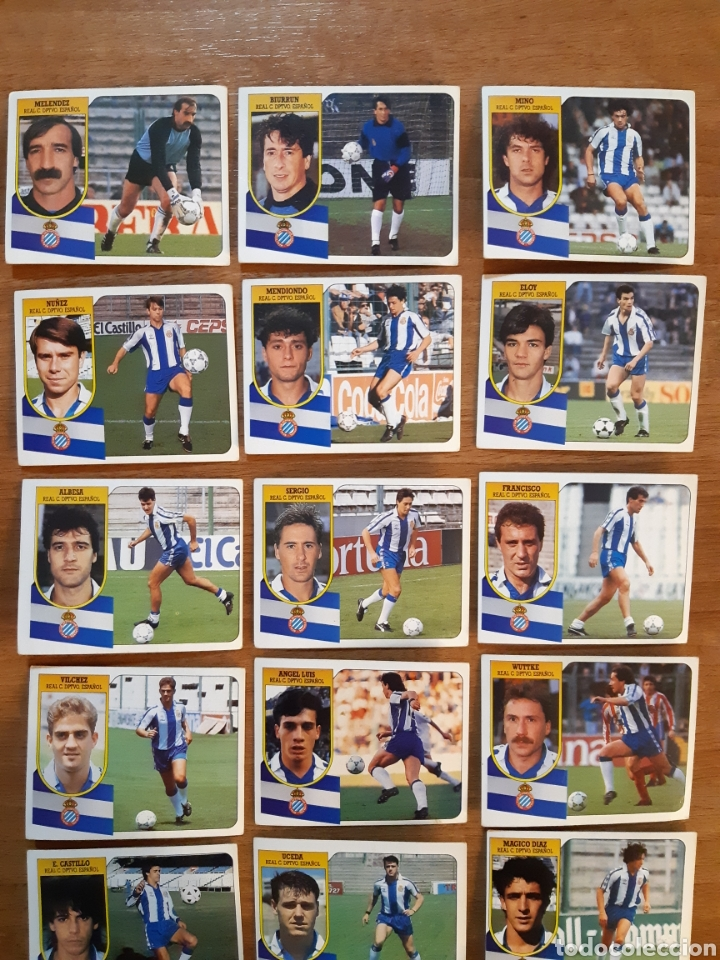 Cromos de Fútbol: Lote 18 cromos diferentes RCD Español liga 91-92 ESTE. Nunca pegados - Foto 2 - 210428807