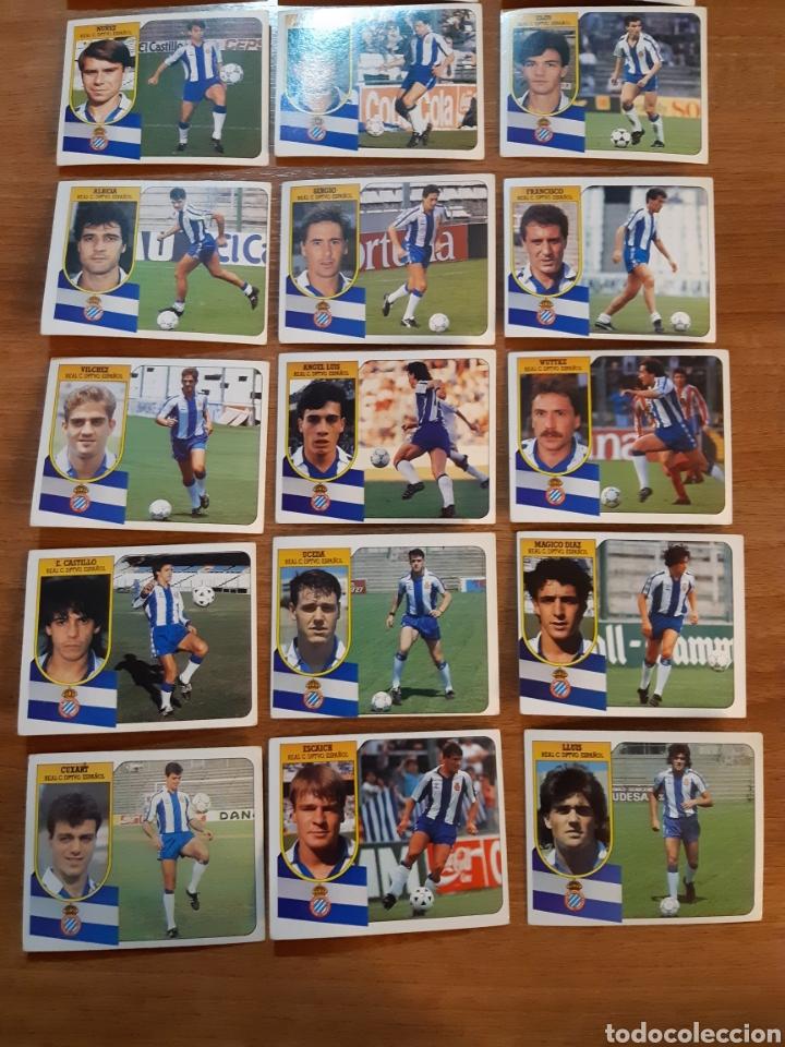 Cromos de Fútbol: Lote 18 cromos diferentes RCD Español liga 91-92 ESTE. Nunca pegados - Foto 3 - 210428807