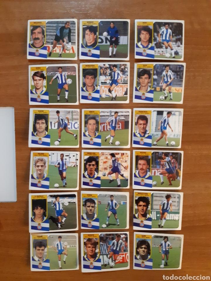 LOTE 18 CROMOS DIFERENTES RCD ESPAÑOL LIGA 91-92 ESTE. NUNCA PEGADOS (Coleccionismo Deportivo - Álbumes y Cromos de Deportes - Cromos de Fútbol)