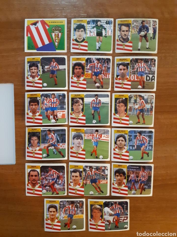 LOTE 17 CROMOS DIFERENTES SPORTING GIJÓN LIGA 91-92 ESTE. NUNCA PEGADOS (Coleccionismo Deportivo - Álbumes y Cromos de Deportes - Cromos de Fútbol)