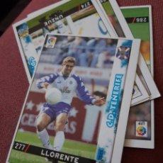 Figurine di Calcio: 277 LLORENTE TENERIFE MUNDICROMO FICHAS DE LA LIGA 98 99 1999. Lote 210446425