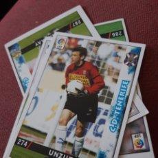 Figurine di Calcio: 274 UNZUE TENERIFE MUNDICROMO FICHAS DE LA LIGA 98 99 1999. Lote 210446457