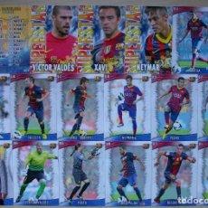 Cromos de Fútbol: LOTE 17 FICHAS FC BARCELONA MUNDICROMO 2013 2014 13 14.. Lote 210674946