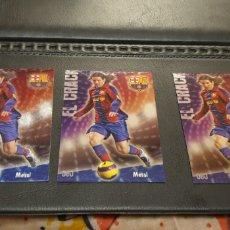 Cromos de Fútbol: LOTE 3 CROMO MESSI FICHA DE LA LIGA 2009 MUNDI CROMO JASPEADO PUNTA CUADRADA N° 80. Lote 211437801