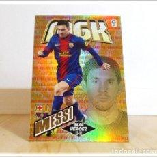 Cromos de Fútbol: MEGACRACKS 2013 2014 13 14 PANINI. MESSI Nº 397 HEROES (BARCELONA) CROMO LIGA FÚTBOL MEGA CRACKS MGK. Lote 211662461