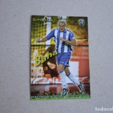 Cromos de Fútbol: MUNDICROMO FICHAS QUIZ GAME 2010 SUPERSTAR Nº 216 BAHA MALAGA 09 10 2009. Lote 211730984