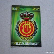 Cromos de Fútbol: MUNDICROMO FICHAS QUIZ GAME 2010 MATE Nº 217 ESCUDO MALLORCA 09 10 2009. Lote 211731423