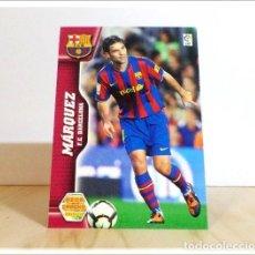 Cromos de Fútbol: MEGACRACKS 2010 2011 10 11 PANINI. MARQUEZ Nº 63 (FC BARCELONA) CROMO LIGA FÚTBOL MEGA CRACKS MGK. Lote 211733890