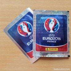 Cromos de Fútbol: LOTE 2 SOBRES SIN ABRIR UEFA EURO 16 FRANCIA PANINI EUROCOPA 2016 FRANCE. Lote 212505561