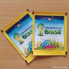 Cromos de Fútbol: LOTE 2 SOBRES SIN ABRIR FIFA WORLD CUP BRASIL 14 PANINI MUNDIAL 2014 BRAZIL. Lote 212506046