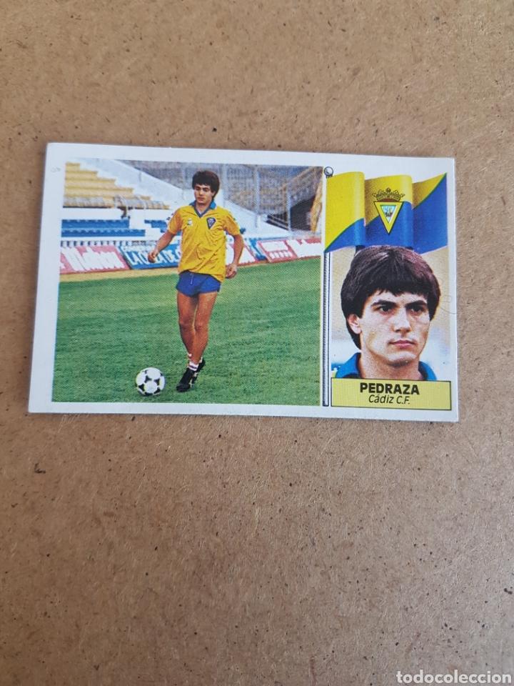 MUY DIFÍCIL PEDRAZA CÁDIZ COLOCA ESTE 86 87 DESPEGADO VER FOTOS (Coleccionismo Deportivo - Álbumes y Cromos de Deportes - Cromos de Fútbol)