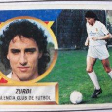 Figurine di Calcio: ZURDI VALENCIA ESTE 1988 1989 CROMO FUTBOL LIGA 88 89. Lote 212911406