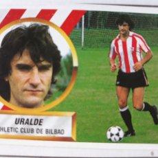 Figurine di Calcio: URALDE ATHLETIC DE BILBAO ESTE 1988 1989 CROMO FUTBOL LIGA 88 89. Lote 212953752