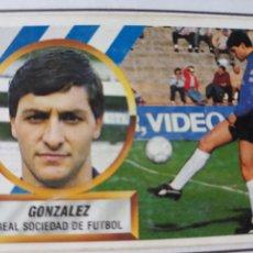 Figurine di Calcio: GONZALEZ REAL SOCIEDAD ESTE 1988 1989 CROMO FUTBOL LIGA 88 89. Lote 213041693