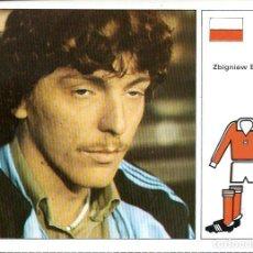 Cartes à collectionner de Football: FICHA DE LA COLECCION ESTRELLAS DEL MUNDIAL 82 - Nº 109 BONIEK - EN BUEN ESTADO. Lote 213191132