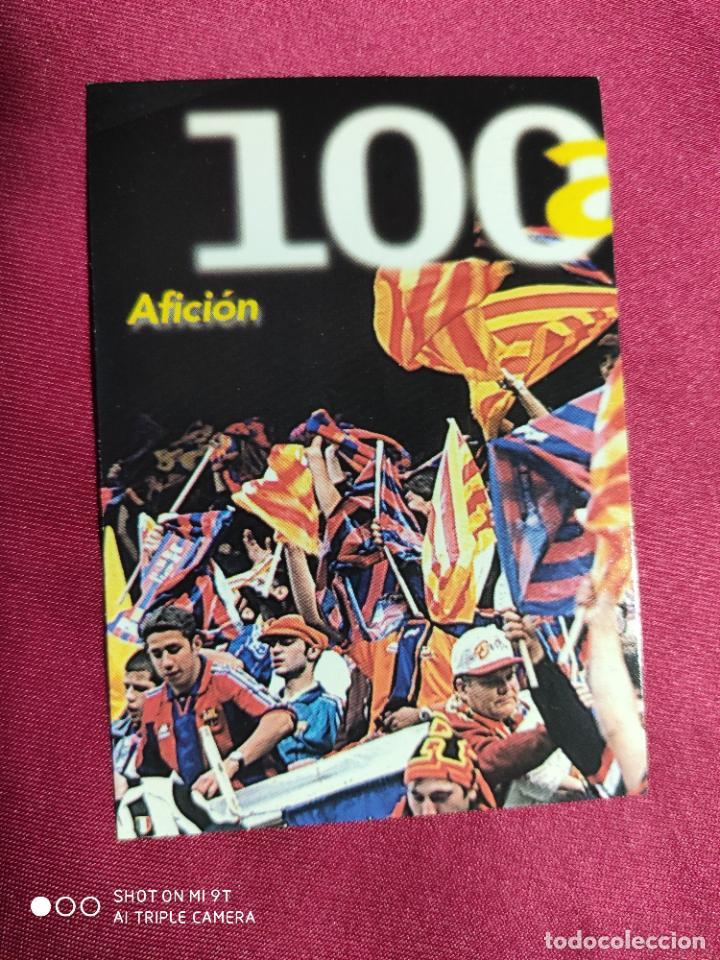 AFICIÓN. CARDS Nº 10. 100 AÑOS F.C.BARCELONA. PANINI (Coleccionismo Deportivo - Álbumes y Cromos de Deportes - Cromos de Fútbol)