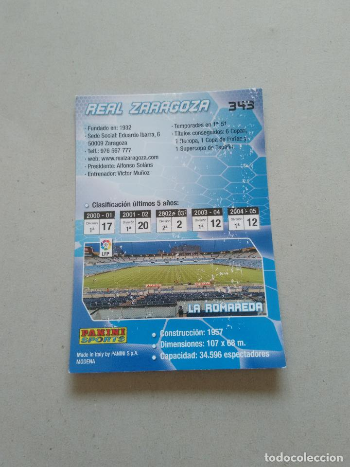 Cromos de Fútbol: Nº 343 ESCUDO REAL ZARAGOZA - CROMO FÚTBOL PANINI MEGACRACKS 2005-2006 MGK LIGA 05-06 - Foto 2 - 213438323