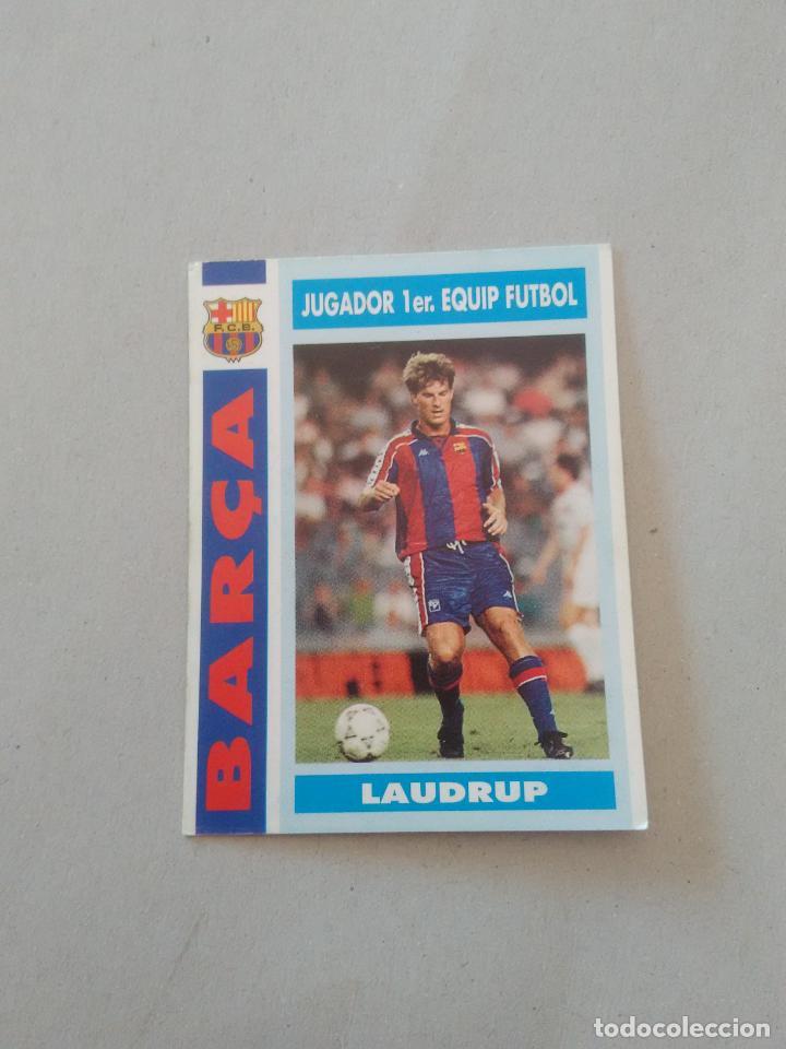 Nº 67 MICHAEL LAUDRUP PRIMER EQUIP FUTBOL CROMO BARCELONA 1992-1993 COLECCIÓN BARÇA LIGA 92-93 (Coleccionismo Deportivo - Álbumes y Cromos de Deportes - Cromos de Fútbol)
