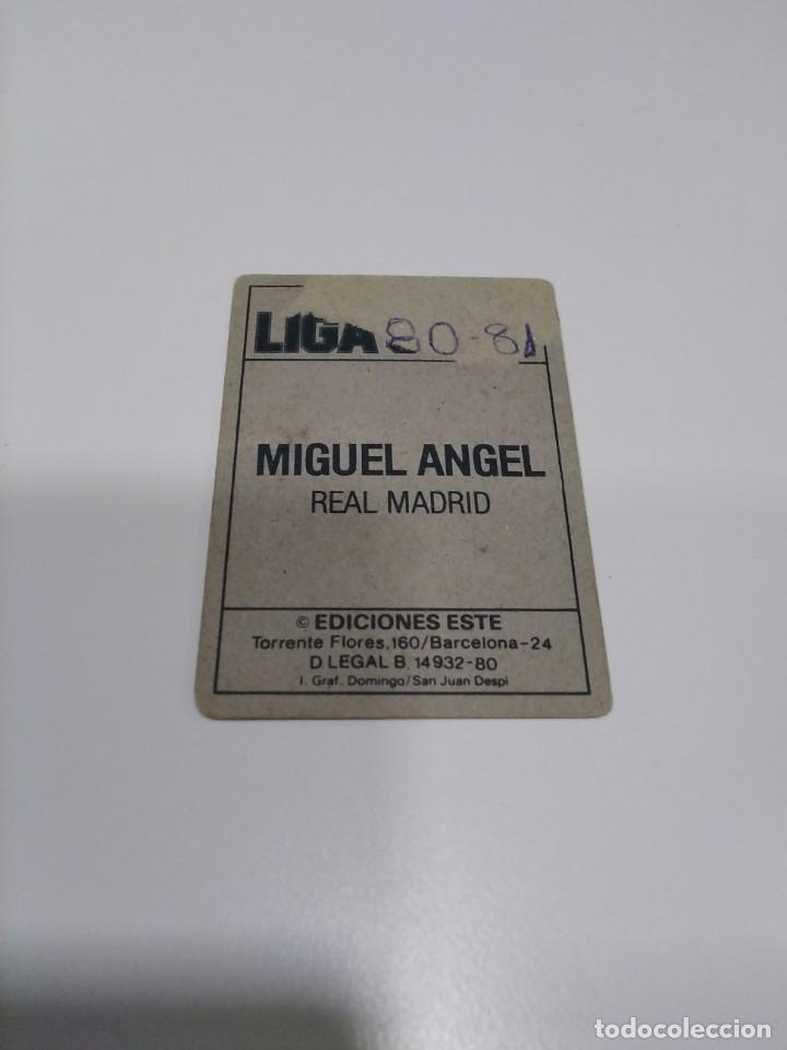 Cromos de Fútbol: Ediciones Este 80-81 Miguel Ángel Real Madrid recuperado. - Foto 2 - 213470145