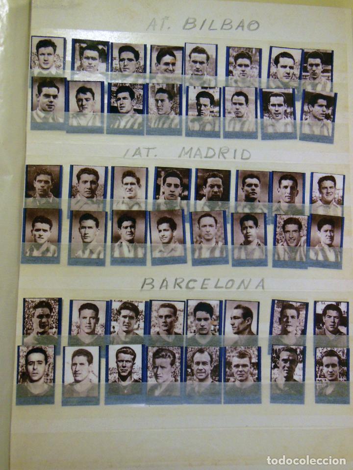 Cromos de Fútbol: Lote ORIGINAL 256 Cromos FUTBOL fotográficos LIGA 1ª DIVISIÓN TEMPORADA 1953/54. Completa 16 equipos - Foto 3 - 213571943