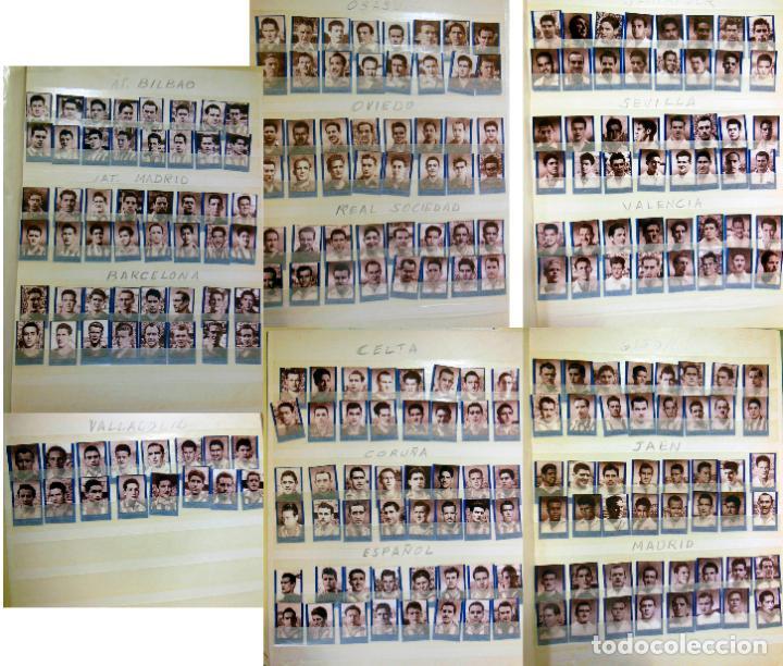 LOTE ORIGINAL 256 CROMOS FUTBOL FOTOGRÁFICOS LIGA 1ª DIVISIÓN TEMPORADA 1953/54. COMPLETA 16 EQUIPOS (Coleccionismo Deportivo - Álbumes y Cromos de Deportes - Cromos de Fútbol)