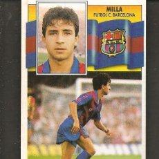 Cromos de Fútbol: ESTE 90 - 91. MILLA. FUTBOL CLUB BARCELONA. NO PEGADO. (P/C53). Lote 213620043
