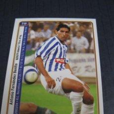 Cromos de Fútbol: MORENO Y ROSU (RECREATIVO DE HUELVA) - Nº 719 - LAS FICHAS DE LA LIGA 2005 - MUNDICROMO.. Lote 213707665