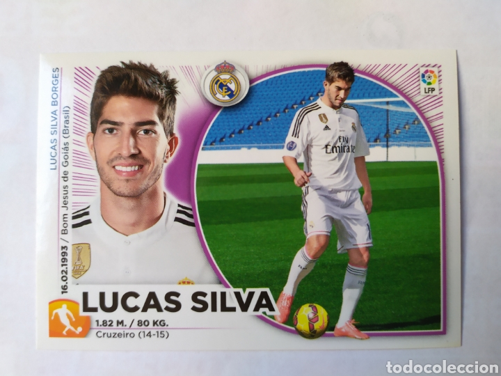 LIGA ESTE 2014 2015 PANINI LUCAS SILVA FICHAJE INVIERNO N° 30 REAL MADRID (Coleccionismo Deportivo - Álbumes y Cromos de Deportes - Cromos de Fútbol)