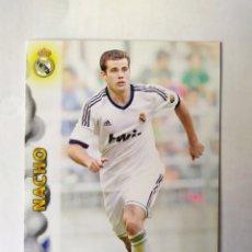 Cromos de Fútbol: MUNDICROMO LAS FICHAS DE LA LIGA 2013 NACHO ROOKIE N° 1375 REAL MADRID. Lote 213727286