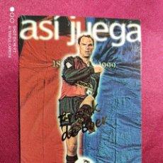 Cromos de Fútbol: ASI JUEGA. FRANC DE BOER. Nº 242. 100 AÑOS F.C. BARCELONA. 1899-1999. PANINI. Lote 213738256
