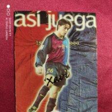 Cromos de Fútbol: ASI JUEGA. XAVI. Nº 244. 100 AÑOS F.C. BARCELONA. 1899-1999. PANINI. Lote 213738348