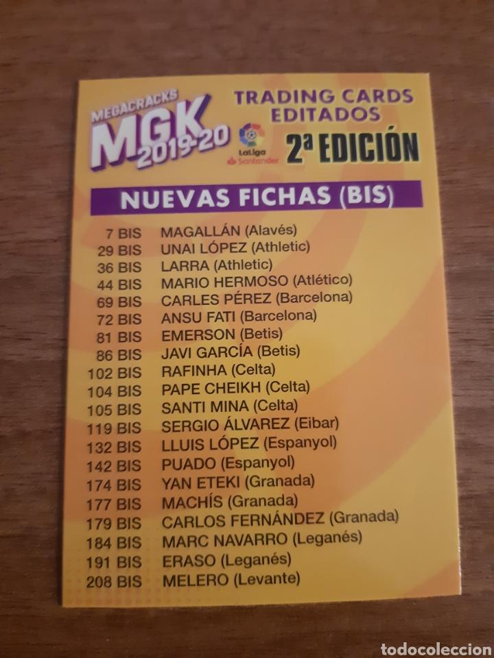 MEGACRACKS 19-20 PANINI CARTA ÍNDICE SEGUNDA EDICIÓN. NUEVO (Coleccionismo Deportivo - Álbumes y Cromos de Deportes - Cromos de Fútbol)