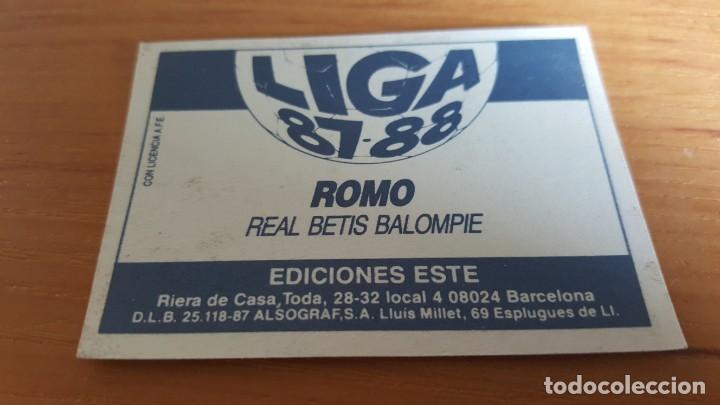 Cromos de Fútbol: CROMO ALBUM ESTE 87 88 1987 1988 Romo Betis . Sin pegar - Foto 2 - 213853358