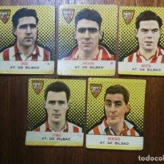 Cromos de Fútbol: ATHLETIC CLUB DE BILBAO - CAMPEONES BRUGUERA 57/58 1957/58 - 5 CROMOS SIN PEGAR ( UNO SIN NUMERAR). Lote 213985882