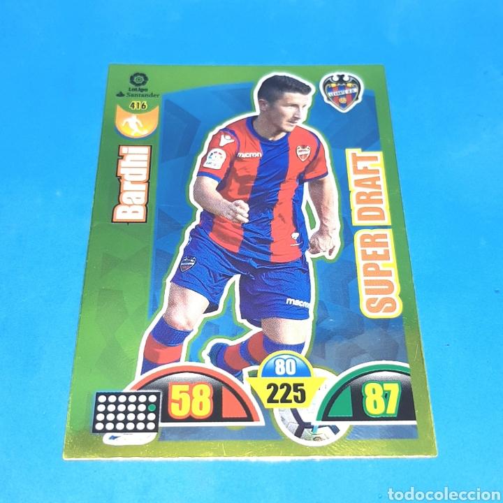 (C-36) ADRENALYN LIGA 2017-2018 (LEVANTE) N°416 BARDHI. SUPER DRAFT (Coleccionismo Deportivo - Álbumes y Cromos de Deportes - Cromos de Fútbol)