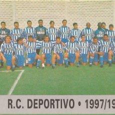 Cromos de Fútbol: 1997-1998 - 44 PLANTILLA - DEPORTIVO DE LA CORUÑA - MUNDICROMO LAS FICHAS DE LA LIGA 97-98 - 15. Lote 214043632
