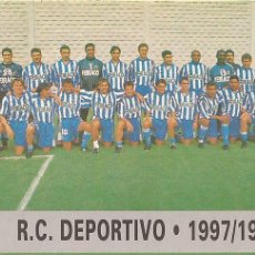 Cromos de Fútbol: 1997-1998 - 44 PLANTILLA - DEPORTIVO DE LA CORUÑA - MUNDICROMO LAS FICHAS DE LA LIGA 97-98 - 24. Lote 214043811