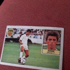 Cromos de Fútbol: QUIQUE FICHAJE 36 ESTE 85 84 1985 1984 DESPEGADO VALENCIA. Lote 214118183