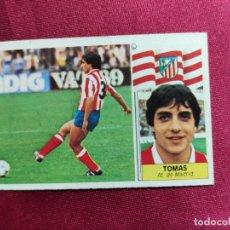 Cromos de Fútbol: TOMAS. ATLETICO DE MADRID. LIGA 1986-1987 86-87. ESTE. NUEVO. NUNCA PEGADO. Lote 214204613
