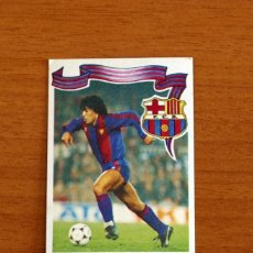 Cromos de Fútbol: BARCELONA - Nº 24 MARADONA - EDITORIAL MAGA 1984-1985, 84-85 - GOL -NUNCA PEGADO TRASERA COLOR VERDE. Lote 214324738