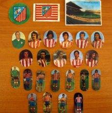 Cromos de Fútbol: ATLÉTICO MADRID - LOTE DE 25 CROMOS, TODOS LOS PUBLICADOS - EDITORIAL MAGA LIGA 1975-1975, 75-76. Lote 214326150