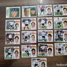 Cromos de Fútbol: LOTE DE 17 CROMOS DIFERENTE LIGA ESTE 1999/2000 ( VALENCIA CLUB DE FUTBOL ) NUNCA PEGADOS. Lote 214836653