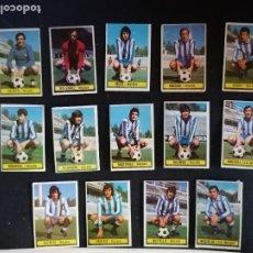 Cromos de Fútbol: LIGA ESTE 74/75 1974/75 LOTE DE 14 CROMOS DEL MALAGA RECUPERADOS. Lote 214951102