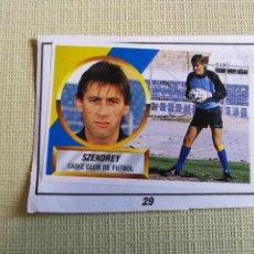 Figurine di Calcio: SZENDREY, CÁDIZ CF, ÚLTIMO FICHAJE N°29, EDITORIAL ESTE 88 /89, RECORTADO. Lote 215029118