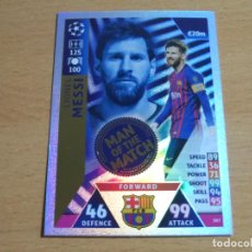 Cromos de Fútbol: 397 LEO MESSI / BARCELONA / MAN OF THE MATCH / TOPPS MATCH ATTAX CHAMPIONS LEAGUE 2018 2019 18 19. Lote 215079710