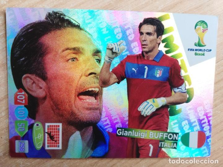 GIANLUIGI BUFFON (LIMITED EDITION) - ITALIA - ADRENALYN FIFA WORLD CUP BRASIL 2014 CARD/CROMO (Coleccionismo Deportivo - Álbumes y Cromos de Deportes - Cromos de Fútbol)