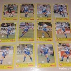Cromos de Fútbol: LOTE AS LIGA 1995 1996 95 96, DEPORTIVO DE LA CORUÑA, EQUIPO COMPLETO (12 CROMOS). Lote 215297968