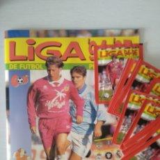 Cromos de Fútbol: PANINI LA LIGA 94/95 - ÁLBUM VACÍO + 20 SOBRES SIN ABRIR. Lote 215367180